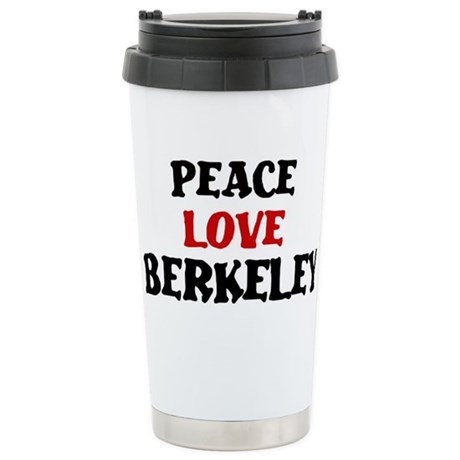 Peace Love Berkeley Stainless Steel Travel Mug