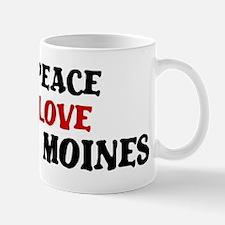 Peace Love Des Moines Mug