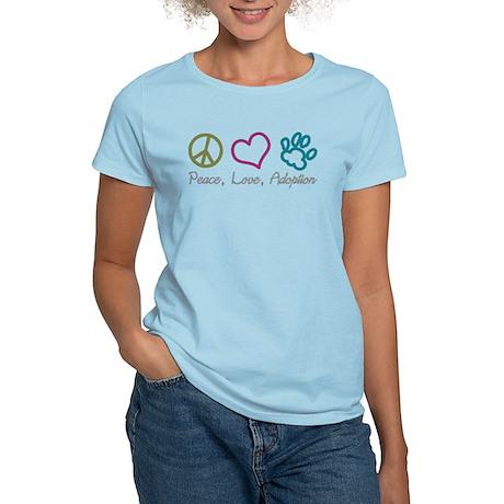 Peace, Love, Adoption Women's Light T-Shirt