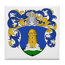 Van Torre Coat of Arms Tile Coaster