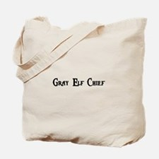 Gray Elf Chief Tote Bag