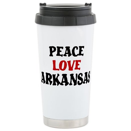 Peace Love Arkansas Stainless Steel Travel Mug