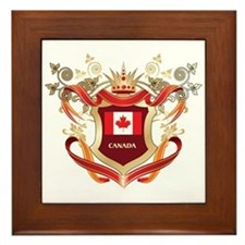 Canadian flag emblem Framed Tile