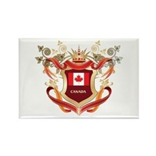 Canadian flag emblem Rectangle Magnet
