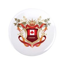 "Canadian flag emblem 3.5"" Button"