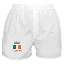 My Manx Grandpa Loves Me Boxer Shorts