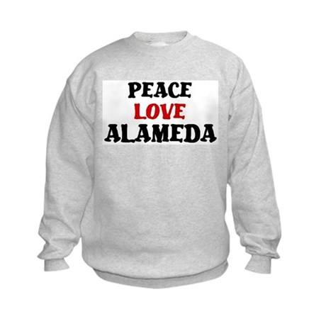 Peace Love Alameda Kids Sweatshirt