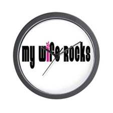 My Wife Rocks Wall Clock