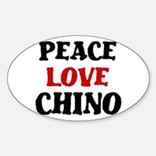 Peace Love Chino Oval Decal