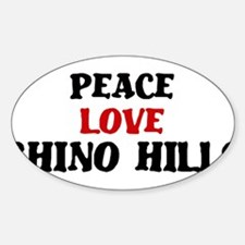 Peace Love Chino Hills Oval Decal