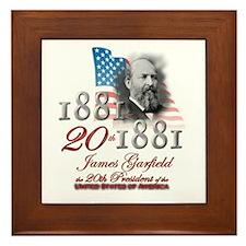 20th President - Framed Tile