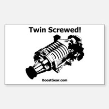 Twin Screwed! Supercharger - Rectangle Decal