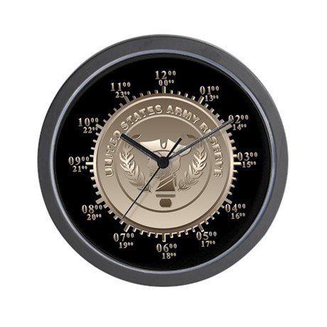 Army Reserve Miltary Time Wall Clock