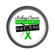 KidneyCancerMattersGreen Wall Clock