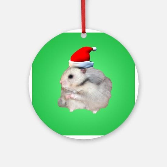 Santa Hamster #2 Ornament (Round)
