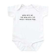 Mess w/ Me, Mess w/ Trailer P Infant Creeper