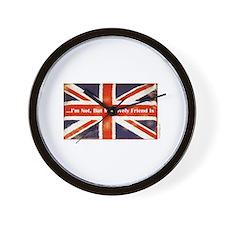 oddFrogg British Friends Wall Clock