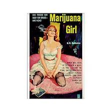 "Frig. Magnet - ""Marijuana Girl"""