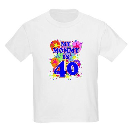 MOMMY BIRTHDAY Kids Light T-Shirt
