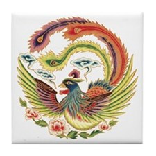 Luck Rooster Tile Coaster