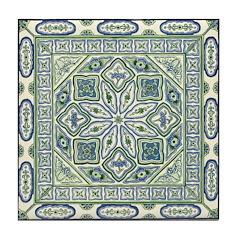 China Blue Tile Coaster