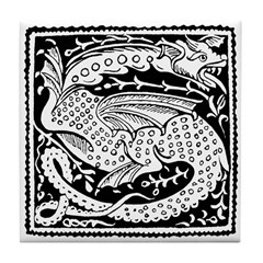 Chinese Luck Dragon Tile Coaster