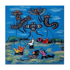 Flying Kites Tile Coaster