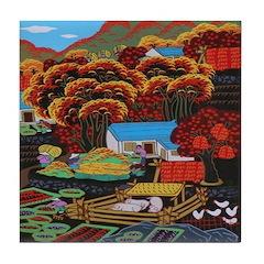 Rural Farm Tile Coaster