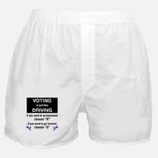 Voting/Driving Boxer Shorts