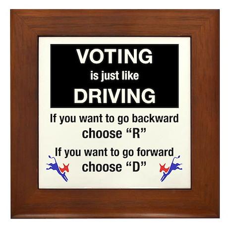 Voting/Driving Framed Tile