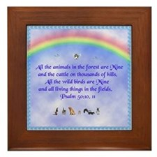 Cool Rainbow ferret Framed Tile