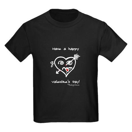 """""""Heart Arrow Hurt"""" : Kids Dark T-Shirt"""