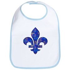 Blue Mosaic Fleur Bib