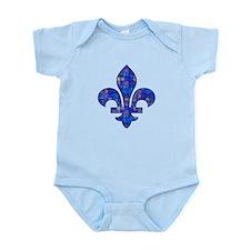 Blue Mosaic Fleur Infant Bodysuit