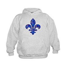Blue Mosaic Fleur Hoodie