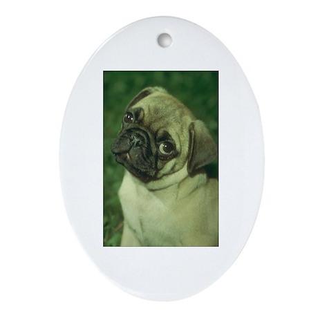 Pug Dog Oval Ornament