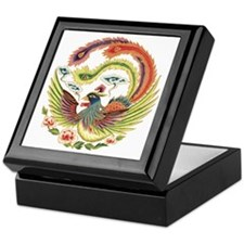 Chinese Luck Rooster Keepsake Box