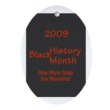 Black History Oval Ornament