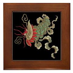 Luck Dragon Framed Tile