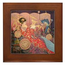 Asian Beauty Framed Tile