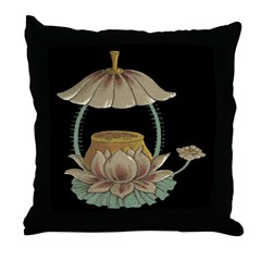 Chinese Blossoms Throw Pillow