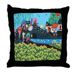 Chinese Folkart Throw Pillow