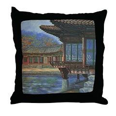 Japanese Arbor Throw Pillow