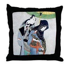 Japanese Lovers Throw Pillow