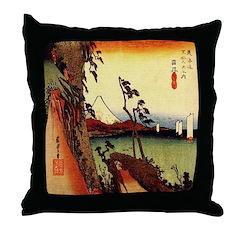 Hiroshige Throw Pillow