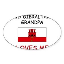 My Gibraltar Grandpa Loves Me Oval Decal