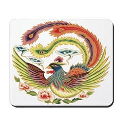 Chinese Luck Rooster Mousepad