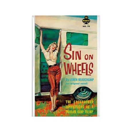 "Frig. Magnet - ""Sin On Wheels"""