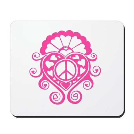 Peace of my heart /pink Mousepad