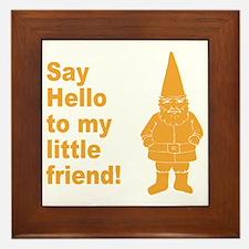Say Hello Framed Tile